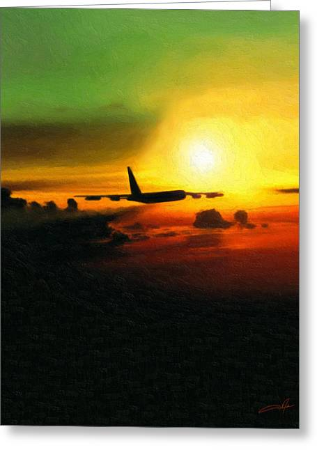 B-52 Greeting Cards - Solitary Greeting Card by Dale Jackson