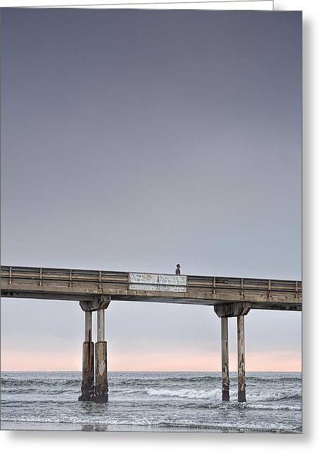 California Beaches Greeting Cards - Solitary Greeting Card by Peter Tellone
