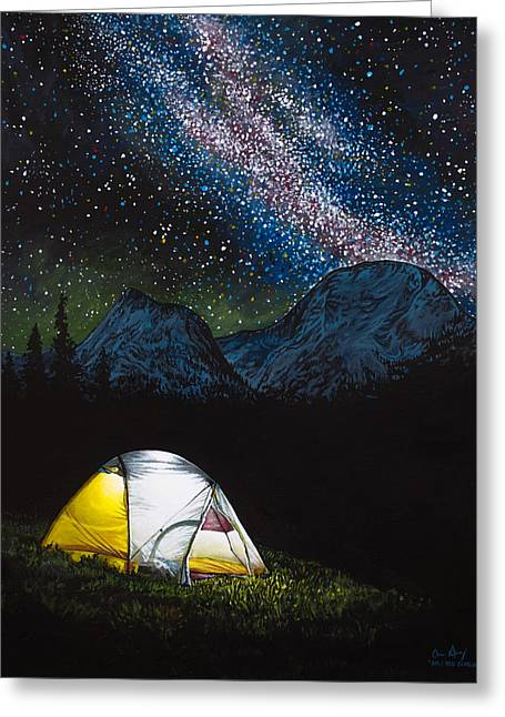 Back Country Greeting Cards - Solitude Greeting Card by Aaron Spong