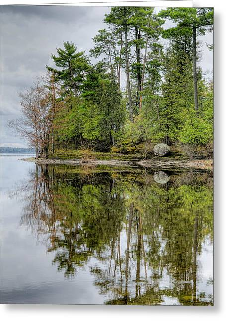 Pond Reflection Greeting Cards - Solitude at Pinheys Point Ontario Greeting Card by Rob Huntley