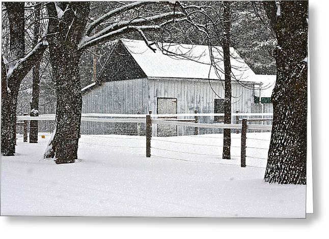 Hunting Cabin Digital Art Greeting Cards - Solitude Greeting Card by Catherine Renzini