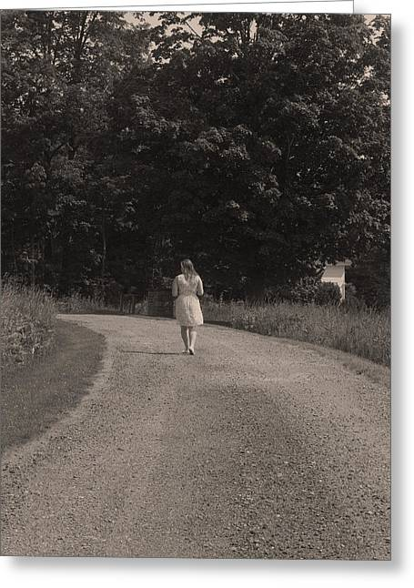 Rural Maine Roads Greeting Cards - Solitude Greeting Card by Dan Poirier