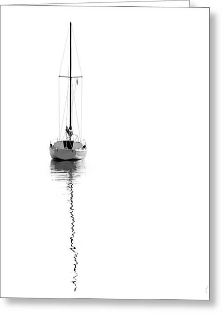 Solitude For Canvas Greeting Card by Lar Matre