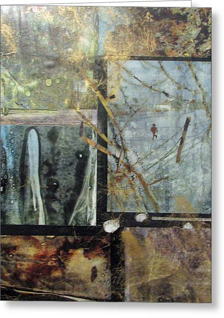 Geographic Mixed Media Greeting Cards - Solitude Greeting Card by Gloria Couture