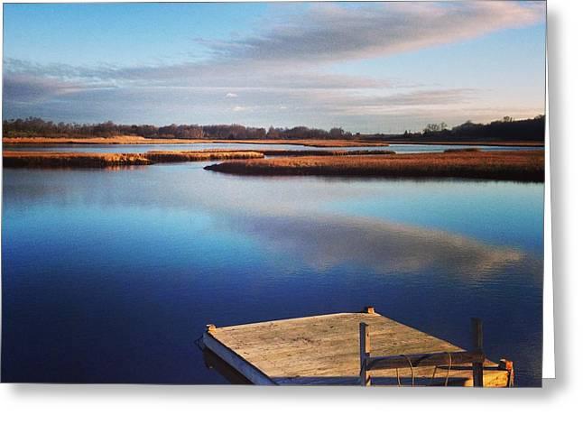 Salt Marsh. New England Greeting Cards - Solitude  Greeting Card by John Repoza