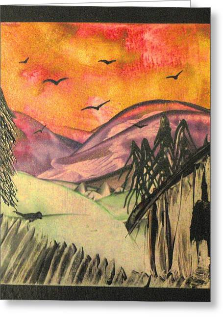 Run Down Paintings Greeting Cards - Solitude Greeting Card by Melody Cook