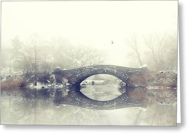 Winter Landscape Digital Greeting Cards - Solitude of Winter Greeting Card by Jessica Jenney