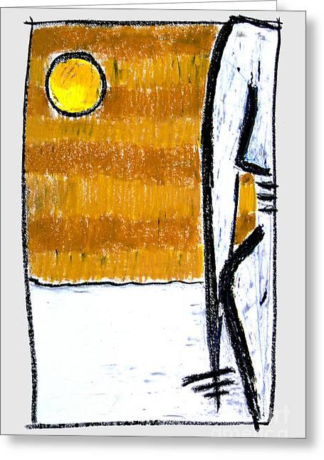 Artprint Pastels Greeting Cards - Solo io Greeting Card by Natalia E Woytasik