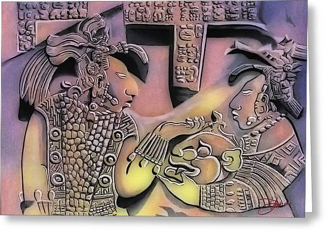 Pyramids Mixed Media Greeting Cards - Solo Maya OY Greeting Card by Dancin Artworks