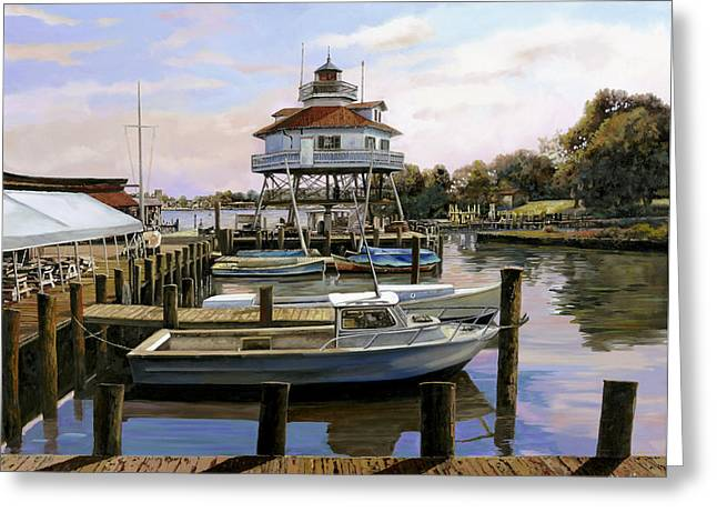 March Paintings Greeting Cards - Solomons Island Greeting Card by Guido Borelli