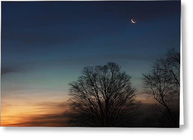 Winter Solstice Greeting Cards - Solstice Moon Square Greeting Card by Bill  Wakeley