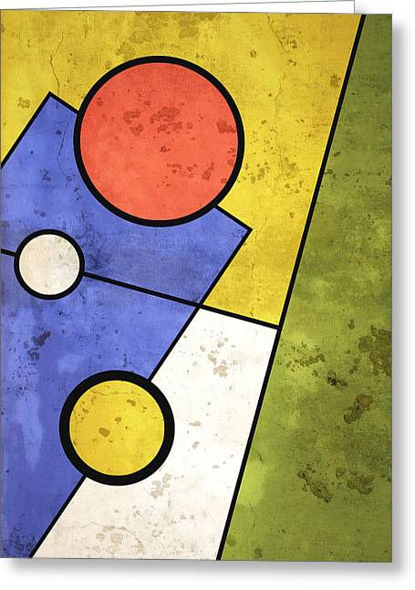 Geometric Artwork Greeting Cards - Solstice Greeting Card by Richard Rizzo