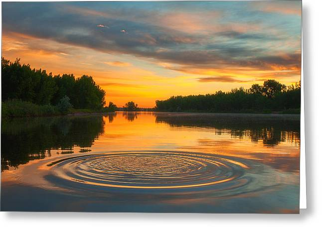 Solstice Greeting Cards - Solstice Ripples Greeting Card by Darren  White