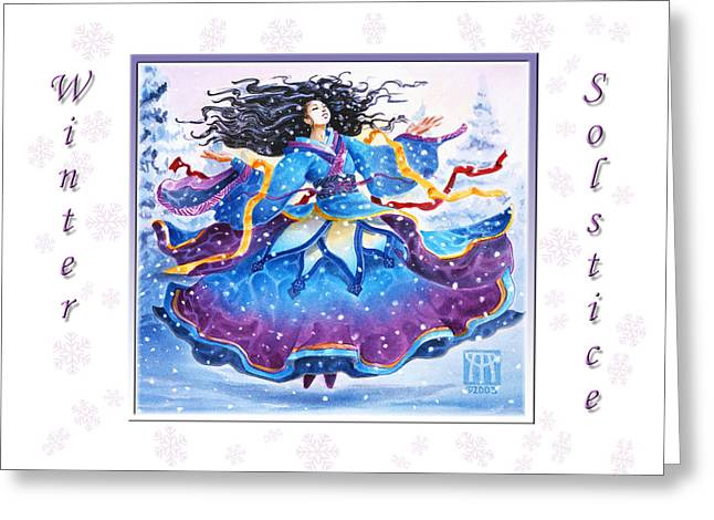 Solstice Greeting Cards Greeting Cards - Solstice Snowfall Greeting Card by Melissa A Benson