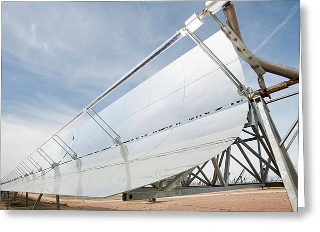 Solucar Solar Complex Greeting Card by Ashley Cooper