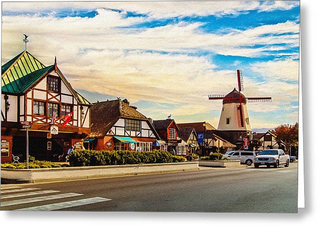 Tradional Greeting Cards - Solvang California Greeting Card by  Bob and Nadine Johnston