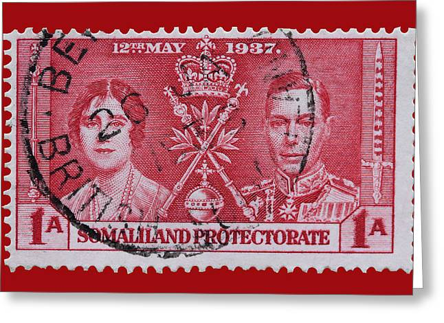 Protectorate Greeting Cards - Somaliland Protectorate Stamp Greeting Card by James Hill