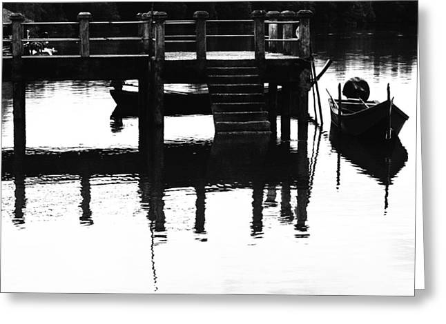 Justin Woodhouse Greeting Cards - Sombre Reflections Greeting Card by Justin Woodhouse