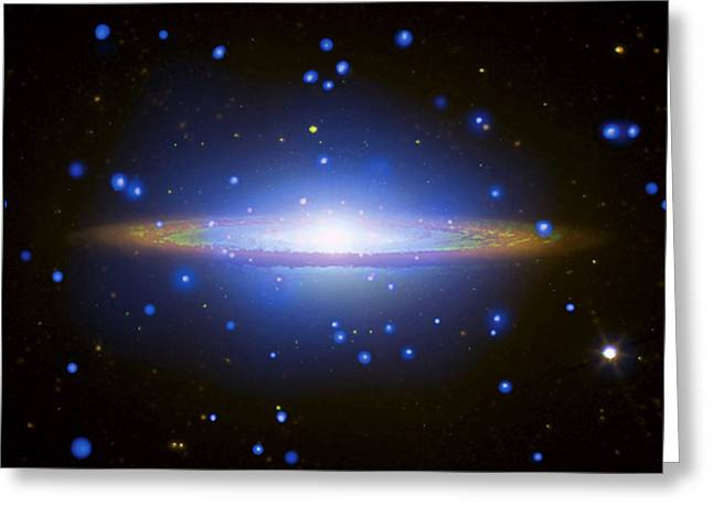 Hubble Space Telescope Greeting Cards - Sombrero Galaxy Greeting Card by Nasa