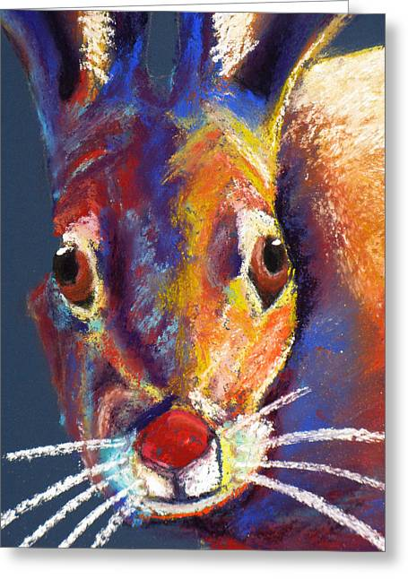 Bunnie Greeting Cards - Some Bunnies Looking Greeting Card by Holly Wright