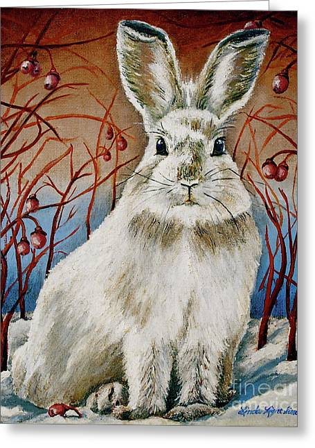 Linda Simon Wall Decor Greeting Cards - Some Bunny is Charming Greeting Card by Linda Simon