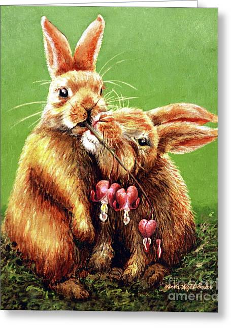 Gnawing Greeting Cards - Some Bunny Loves You Greeting Card by Linda Simon