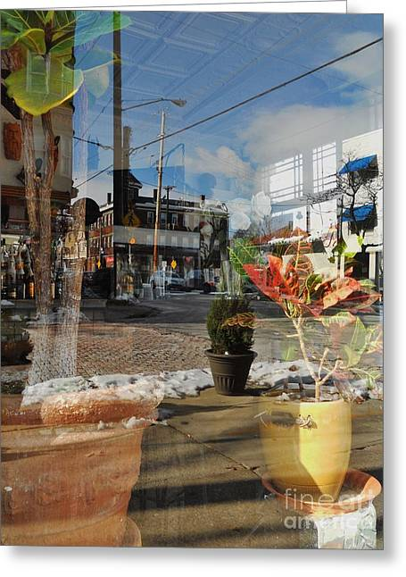Glass Reflecting Greeting Cards - Some Greeting Card by Don Teramano