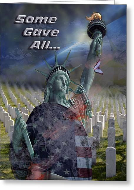 Some Gave All... Greeting Card by Jayne Gohr