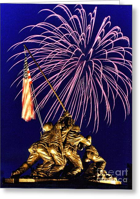 July Fourth Greeting Cards - Some Gave All Greeting Card by Scott Hansen