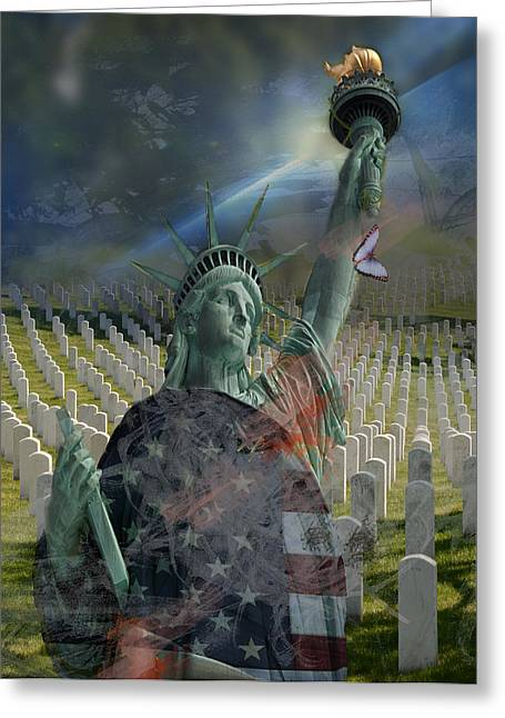 Some Gave All V2 Greeting Card by Jayne Gohr