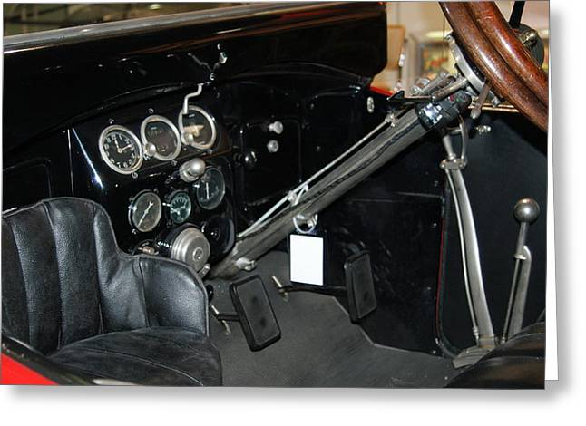 Fuel Gauge Greeting Cards - Some interesting old car interior Greeting Card by Rob Luzier