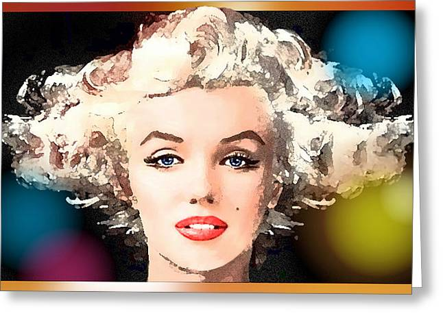 Stellar Paintings Greeting Cards - Marilyn - Some Like It Hot Greeting Card by Hartmut Jager