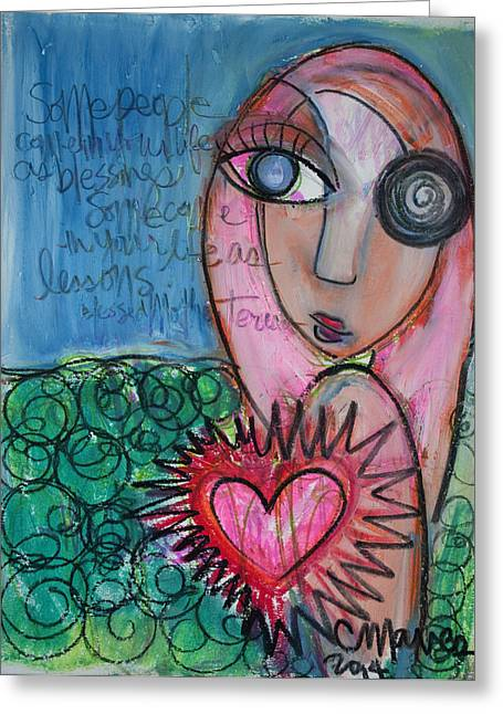 Recently Sold -  - Lessons Greeting Cards - Some People Greeting Card by Laurie Maves Guglielmi