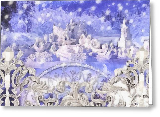 Building Gate Greeting Cards - Some say in ice Greeting Card by Mo T