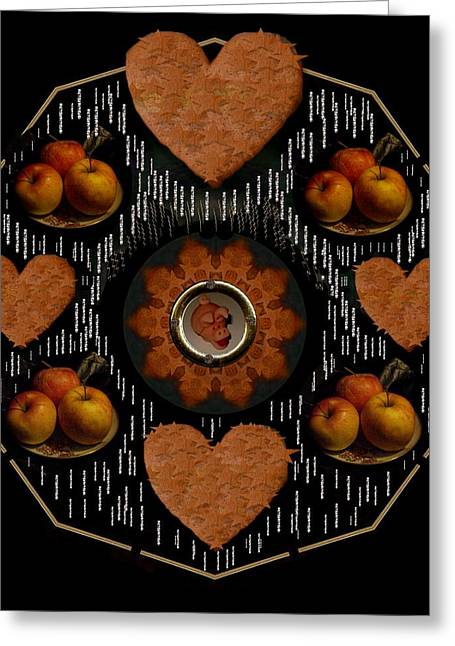 Apple Mixed Media Greeting Cards - Some Snacks Pop Art Greeting Card by Pepita Selles