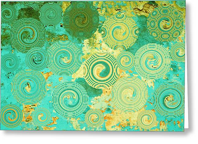 Abstract Art Prints Digital Art Abstract Art Greeting Cards - Some Spring Morning Greeting Card by Bonnie Bruno