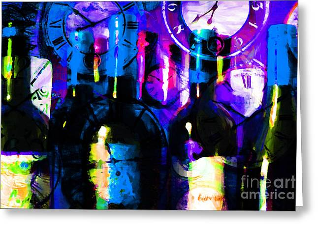 Wine Country. Digital Art Greeting Cards - Some Things Get Better With Time m150 Greeting Card by Wingsdomain Art and Photography