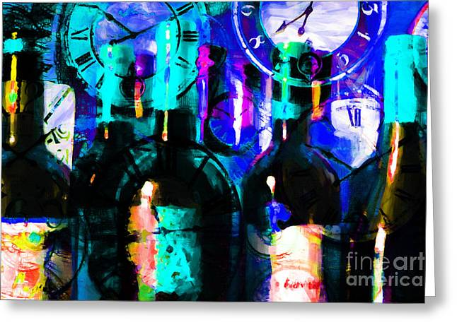 Wine Country. Digital Art Greeting Cards - Some Things Get Better With Time p180 Greeting Card by Wingsdomain Art and Photography