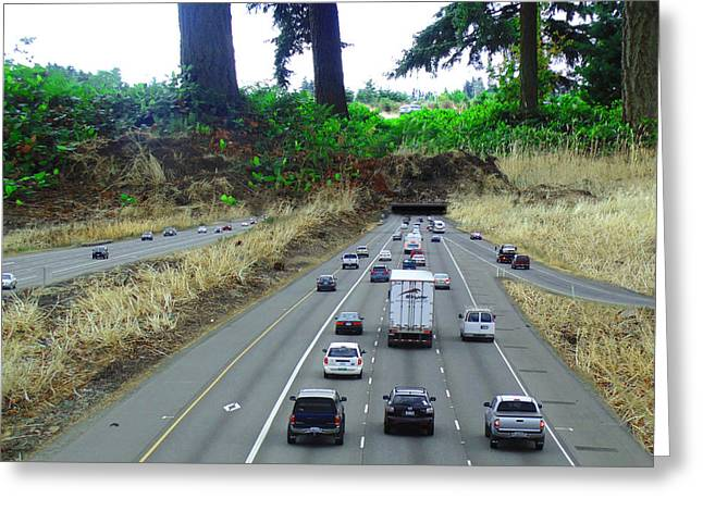 Roadway Greeting Cards - Some Tunnels Here and There Greeting Card by Marcello Cicchini