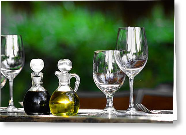 Vinegar Greeting Cards - Some Wine Please Greeting Card by Abhay P