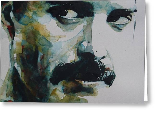 Singer Paintings Greeting Cards - Freddie Mercury Greeting Card by Paul Lovering