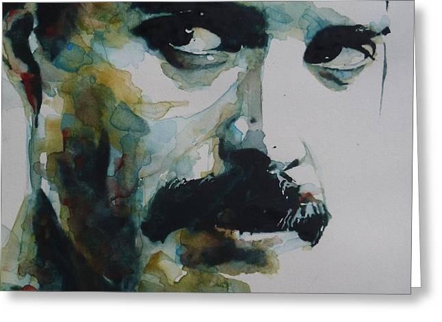Freddie Mercury Greeting Card by Paul Lovering