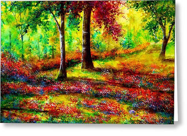 Rainbow Greeting Cards - Someday Greeting Card by Ann Marie Bone