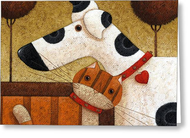 Animals Love Greeting Cards - Someone To Watch Greeting Card by Peter Adderley