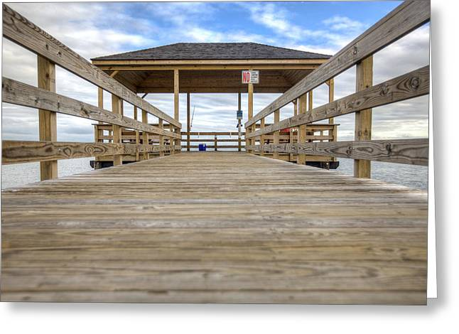 Jerseyshore Greeting Cards - Somers Point Pier Greeting Card by Al Hurley