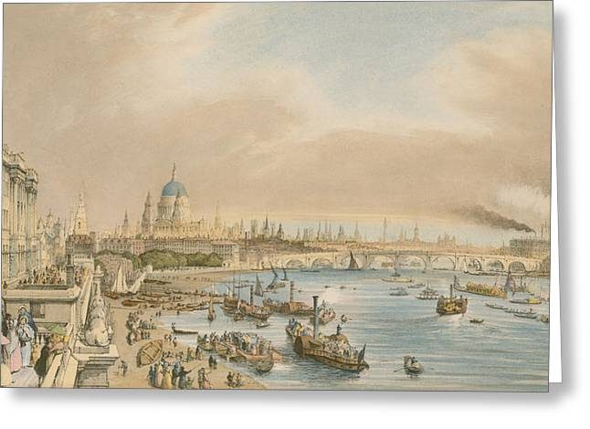 Ships And Boats Greeting Cards - Somerset House Greeting Card by William Parrot