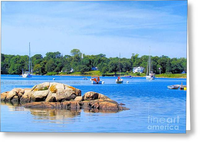 Somes Sound Greeting Cards - Somes Sound at High Tide Greeting Card by Elizabeth Dow