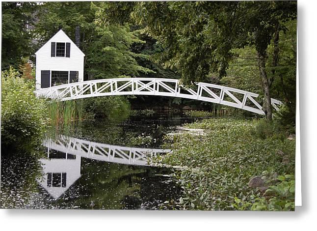 Somesville Bridge Greeting Card by Glory Ann Penington
