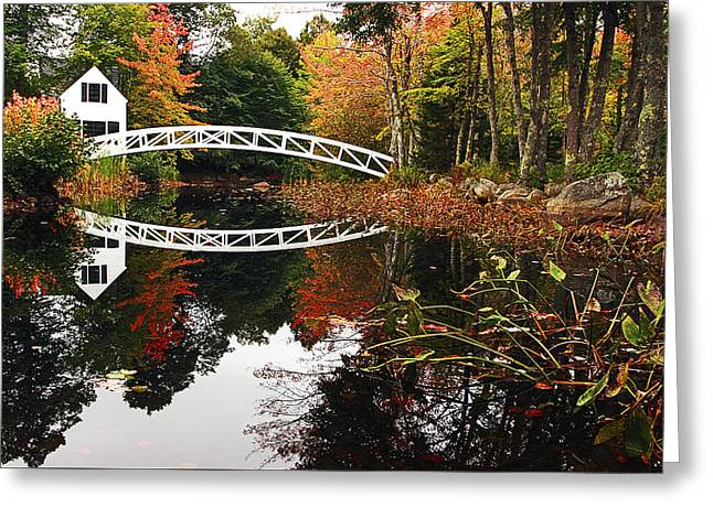 Somesville Bridge Greeting Card by Marcia Colelli