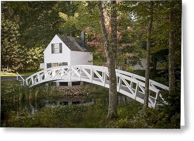Somesville Maine Greeting Cards - Somesville Bridge Greeting Card by Ray Summers Photography